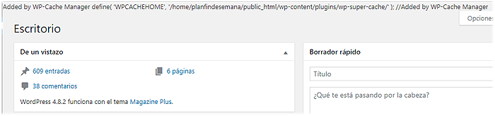 Added by WP Cache Manager define WPCACHEHOME