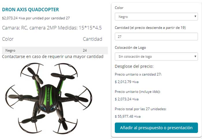 Dron Axis Quadcopter